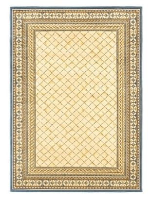 -58,700% OFF Royale Rug, Ivory/Pale Dull Blue, 5' 3