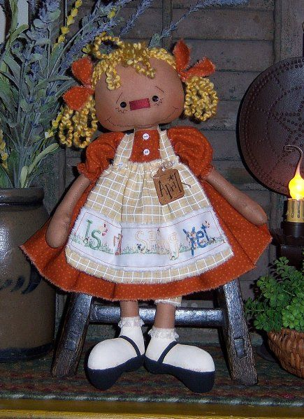 Primitive Raggedy Annie April Ann Doll Pattern PM582