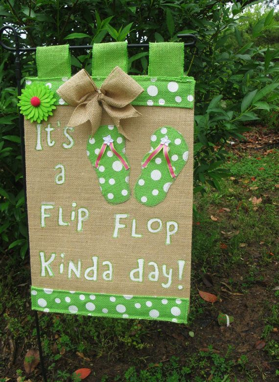 40% OFF TODAY Flip Flop Garden Flag Burlap by TallahatchieDesigns