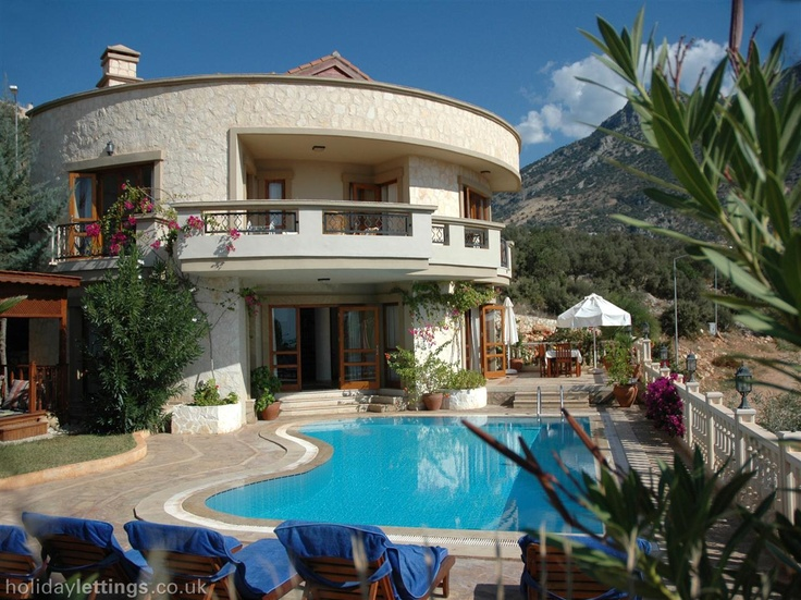 3 bedroom villa in Kalkan to rent from £675 pw, with a private pool. Also with balcony/terrace, log fire, air con, phone, TV and DVD.