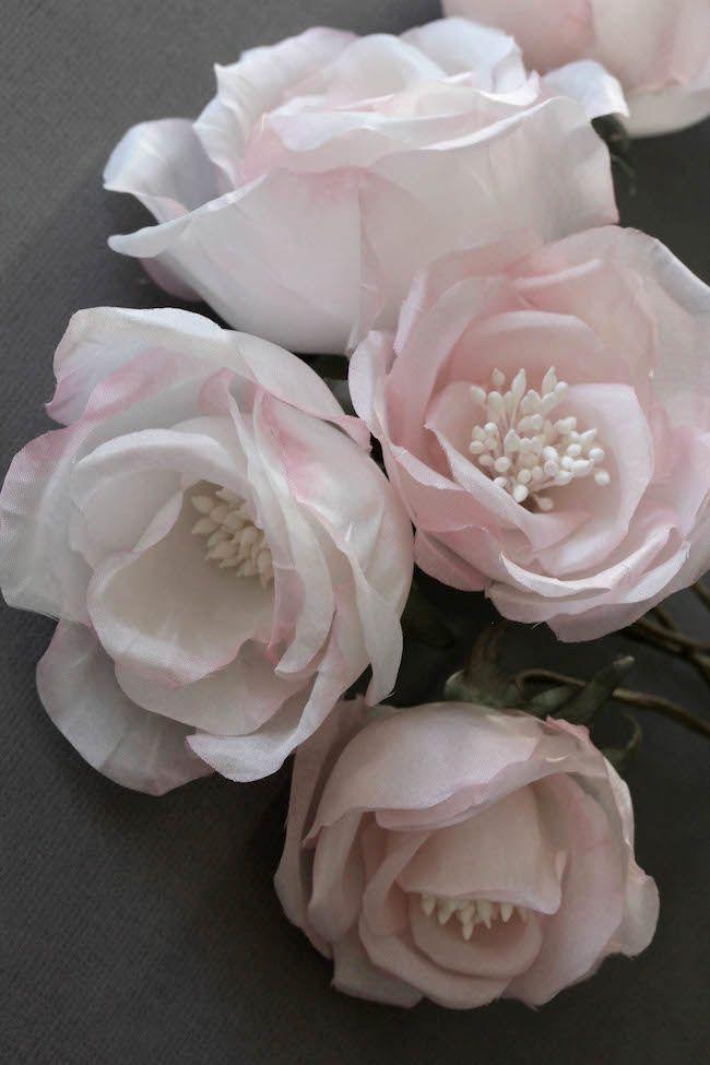 Soft pink silk flowers | TANIA MARAS
