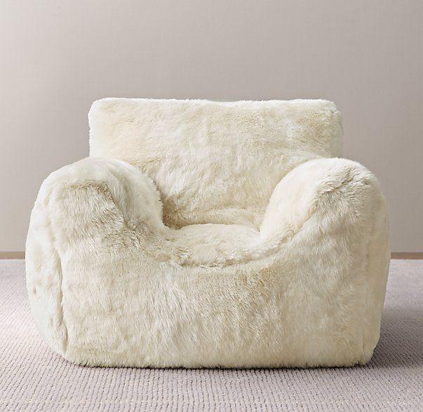 Luxe Faux Fur Bean Bag Chair Cover Playroom Pinterest Chair
