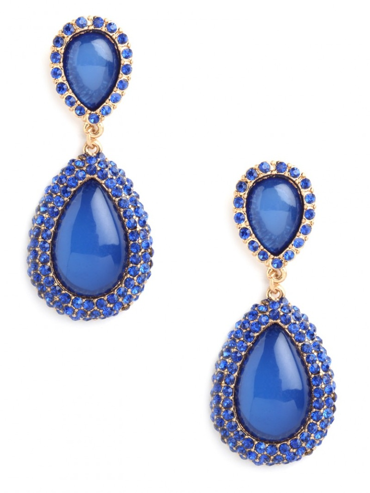 the perfect shade of colbalt blue. GORGOUS! via BaubleBar