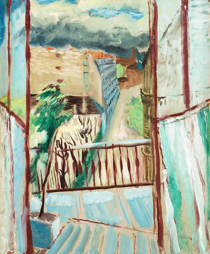 View of the rue Joseph Bara,Sigrid Hjerten. Swedish (1885 - 1948)