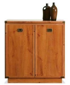 "ID5 IDOL BOGFRAN cabinet. Spacious 2-door cabinet with a shelf inside. Original design in style of ""Wild West"". Geometric shapes. Polish Bogfran Modern Furniture Store in London, United Kingdom #furniture #polish #bogfran #dresser #cabinet"