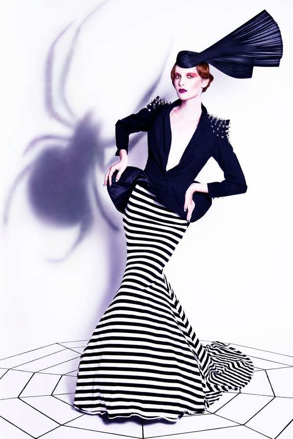 Quirky Arachnid Fashion 'Kiss of a Spider Woman' is Inspired by Tim Burton Films