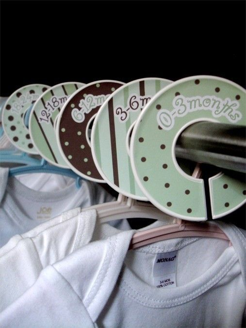 Closet dividers......these really helped me keep my baby's clothes organized
