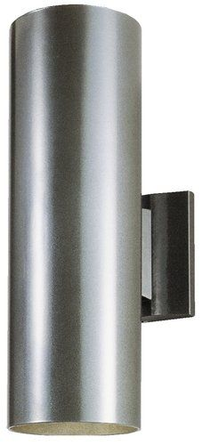 Westinghouse 67975 2 Light Aluminum Cylinder Outdoor Wall Sconce
