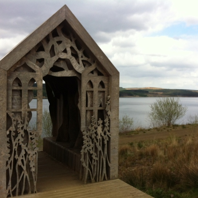 Sculpture at Kielder Forest in Northumberland.