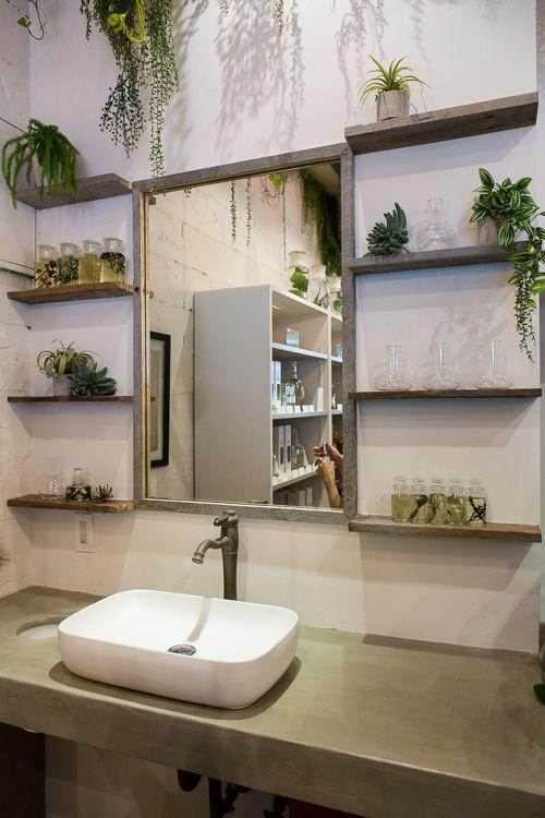 Found at BOTANIST Tokyo in Harajuku: Botanical interior  #botanist #green #plants #earth #botanical #shampoo #bath #japanese #brand #Japan #body milk #body lotion #skin care #natural #lifestyle #slow living #nature #organic #made in japan #interior