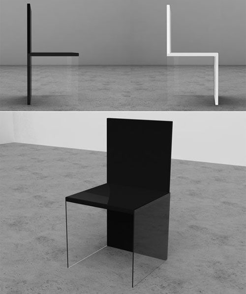 Optical Illusion Chair By Davide Conti