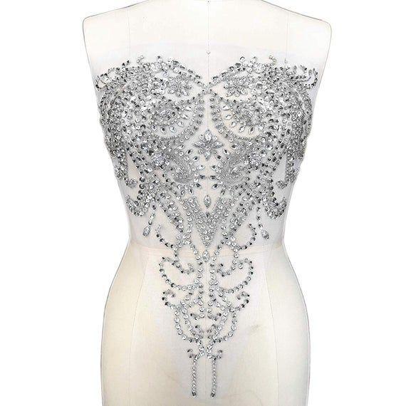 Applique Cristal Décor Vêtement Robe De Soirée Robe De Mariage  Ceinture