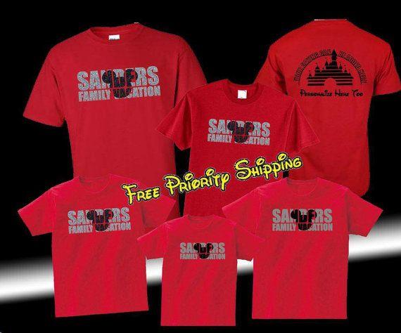 Free Shipping Custom Disney Family Shirts, Disney Vacation  Family Shirts Personalized