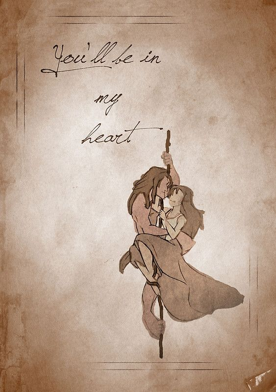 Tarzan inspired valentine.