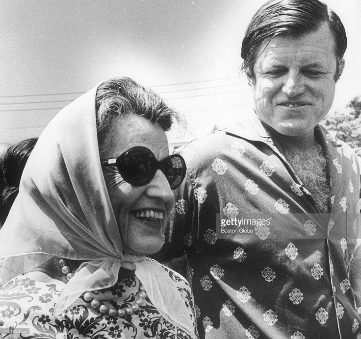 Sen. Edward M. Kennedy and his mother Rose F. Kennedy at the Kennedy compound in Hyannisport, Mass.