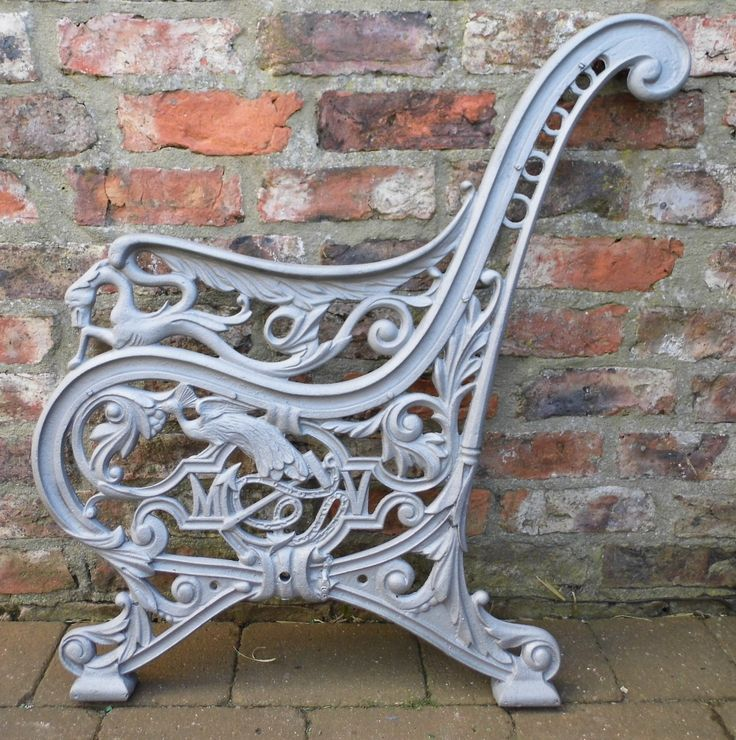 25 best cast iron bench ends images on pinterest cast for Cast iron table ends