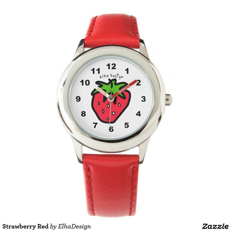 Strawberry Red Wristwatch