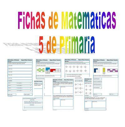 Recursos para el aula: Ejercicios de matematicas 5º de Primaria Segimos con la colección de fichas de repaso de Matemáticas, hoy os dejamos las fichas de 5º de Primaria (10-11 años). Ejercicios de ...