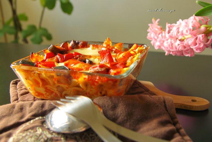 sweet cherimoya: Pomidorowy kurczak w towarzystwie warzyw