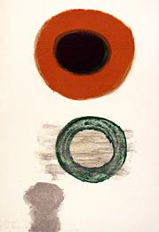 Janet Dawson - 'Montant' 1960 from the National Gallery of Australia's collection. This work is a lithograph printed during an artist residency in Paris.