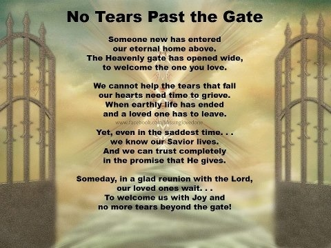 No Tears Past the Gate......