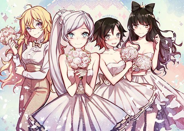 Team RWBY as Flower Girls