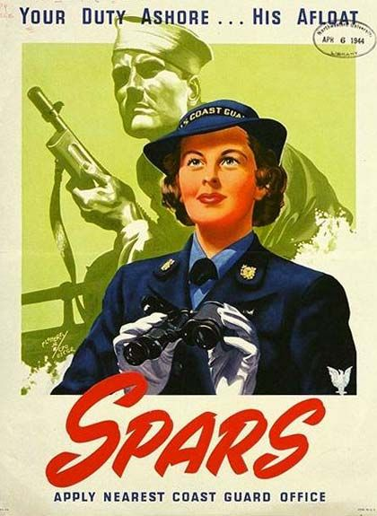 SPARS was the nickname for the United States Coast Guard Women's Reserve, created 23 November 1942 with the signing of Public Law 773 by President Franklin Delano Roosevelt. The name is a contraction of the Coast Guard motto: Semper Paratus and its English translation, Always Ready.