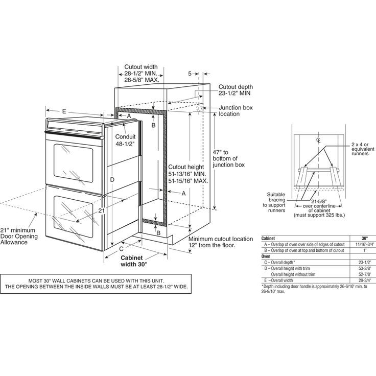 wall oven dimensions GE - Google Search | Wall oven, Wall ...