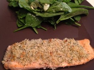 Salmon Fillets Encrusted with Horseradish