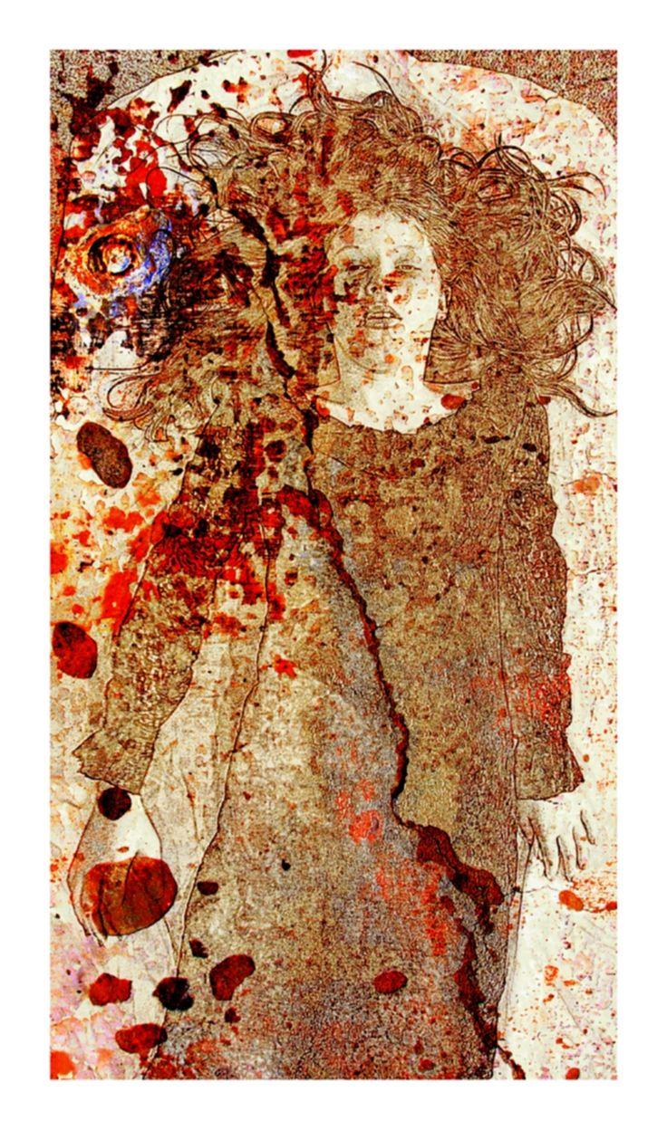 """after Klimt, """"Stromlo Ghosts"""" https://www.facebook.com/KarynFearnsideArtwork"""