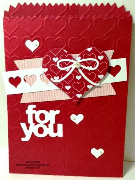 Valentine's Day Mini Treat Bag Thinlit die from Stampin' Up!