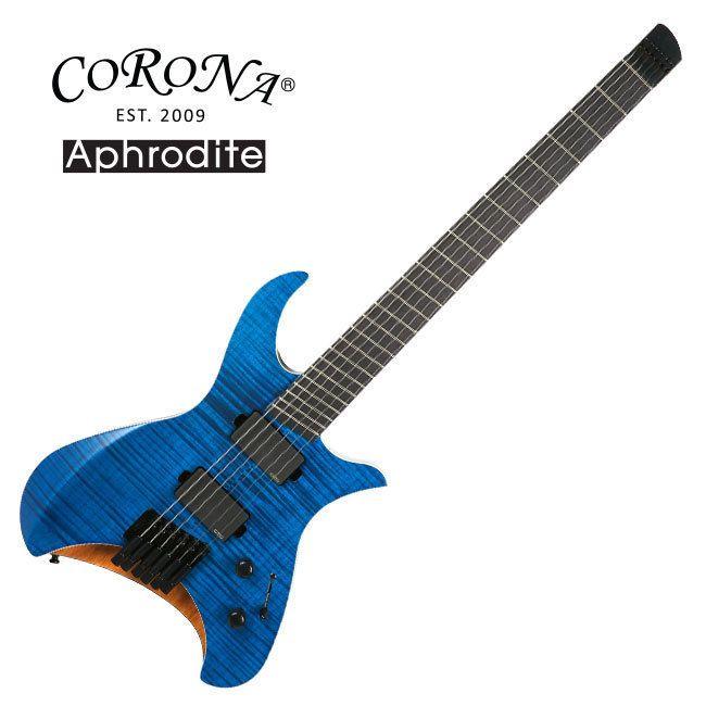 Corona Aphrodite APE-1700F Fanned Fret Multi Scale Electric Guitar Headless EMG #Corona