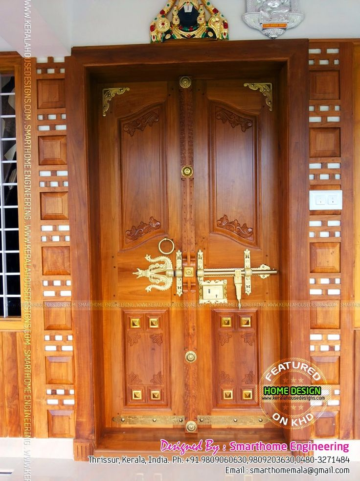 Kerala Wooden Front Double Door Designs Double Doors May