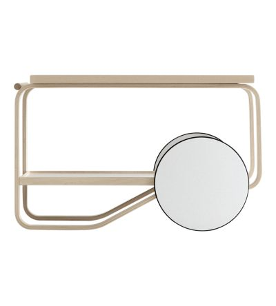 :: DESIGN :: This birch wood tea trolley was designed by Finnish designer Alvar Aalto all the way back in 1936. It debuted at the at the Paris World's Fair in 1937. #design