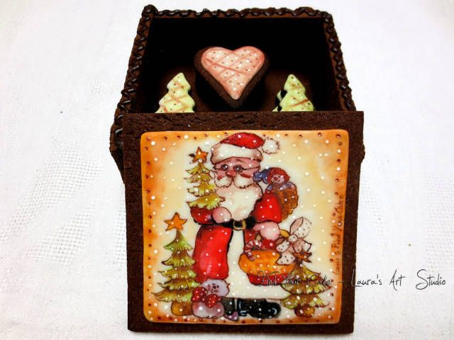 Today I want to show you my project for Christmas: a gift box with cookies made with the shortcrust pastry. I was looking for a nice gift idea for cookies, and then I found it! So, after eaten the cookies … you can also eat the box !!! :) Cocoa...