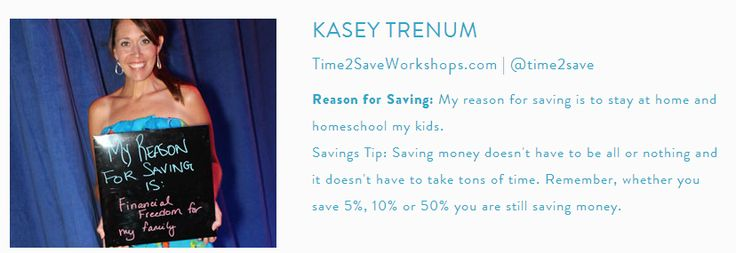 10,000 Reasons to Save: Why Do You Save? - #reasonstosave on www.time2saveworkshops.com: 10000 Reasons