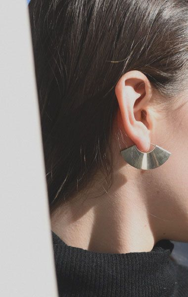 Kathleen Whitaker Small Fan Earrings - ANAISE