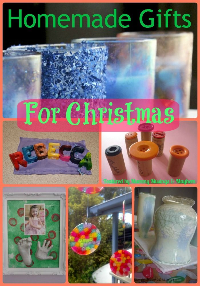 Fun and easy Homemade Gifts for Christmas featured on The Weekly Kid's Co-Op...have you linked up this week?