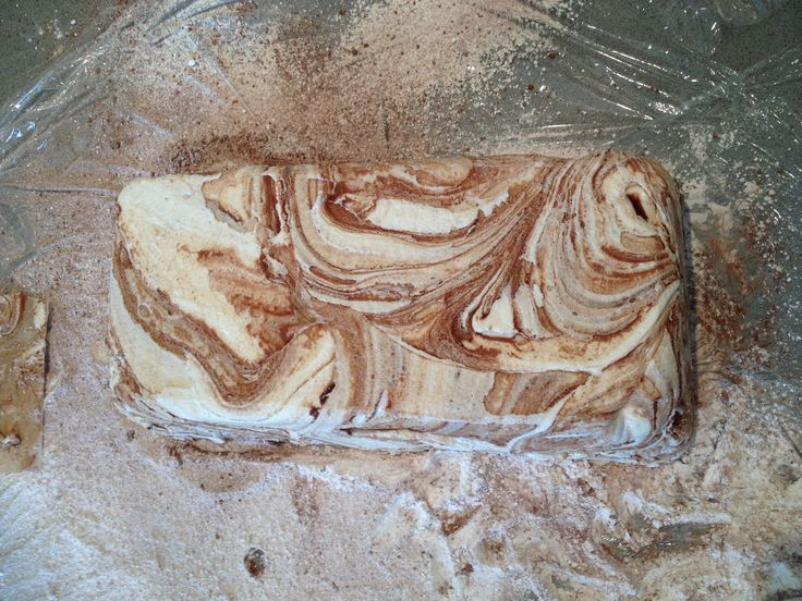 Giant chocolate marble marshmallow loaf