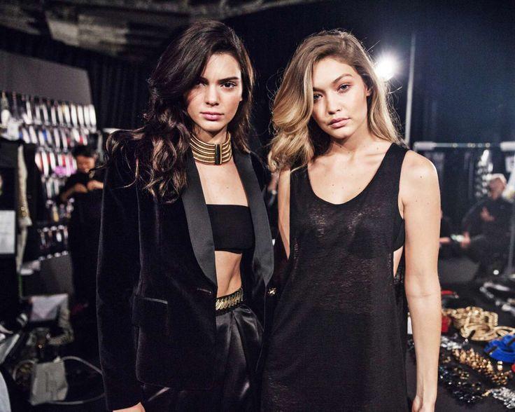 Kendall Jenner and Gigi Hadid - Backstage at Balmain X H&M