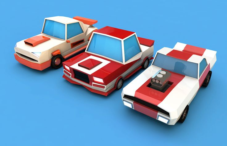 Low Poly Racing Cars