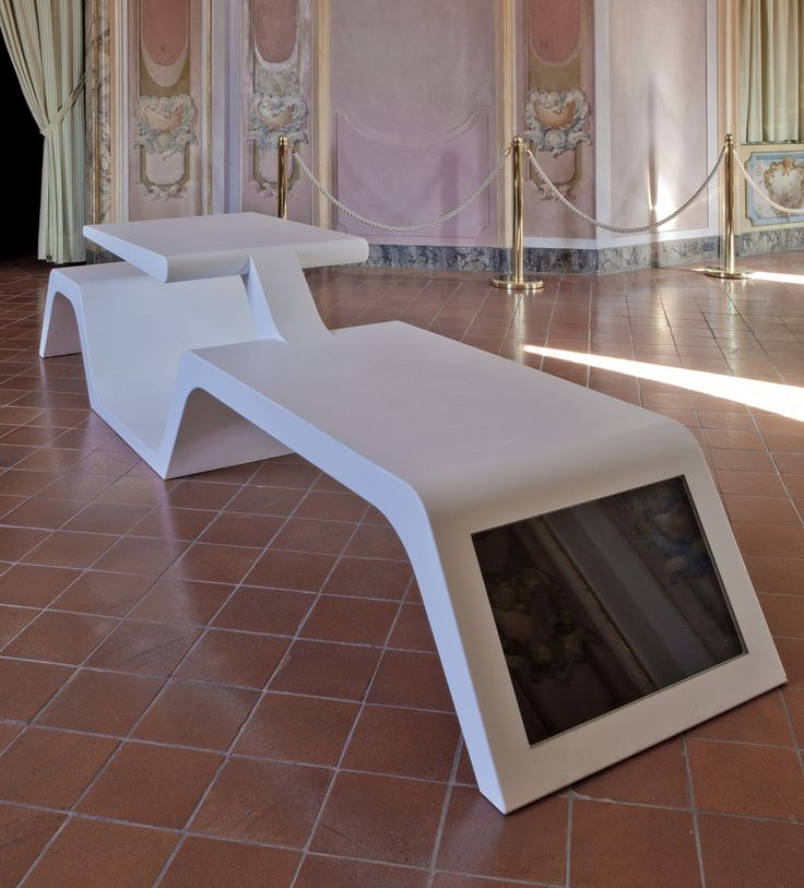 Wi Bench  Wi-Bench in DuPont ™ #Corian® to share urban spaces exploiting wireless technology and solar energy. Designed by Architect Tommaso Tavani, photo studio #tonidigrigio, produced by #Modula Srl