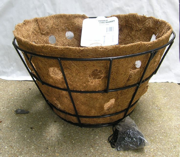 "20"" Hanging basket planter with double row side planter liner by Pamela Crawford #PamelaCrawford"