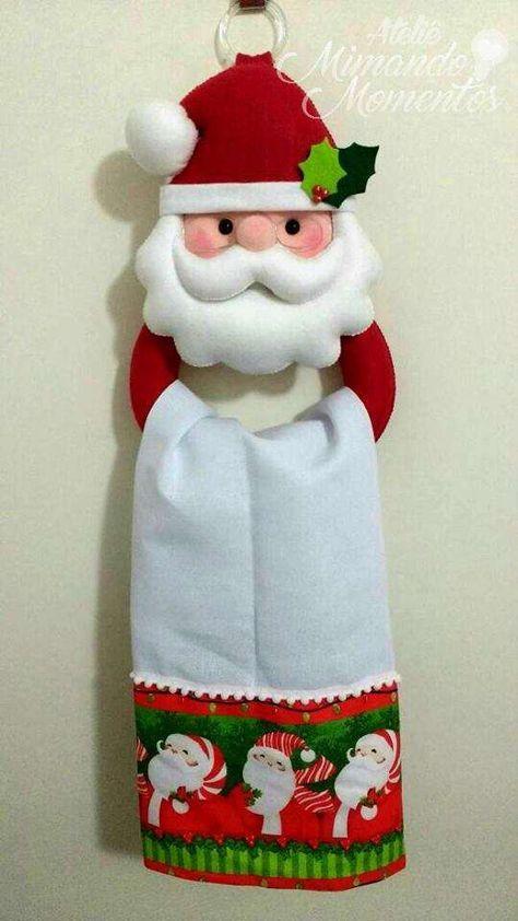 porta paños navideño de cocina de santa claus ,moldes