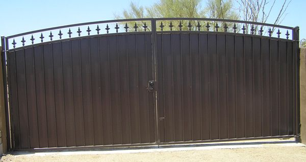 Solid metal driveway gates google search
