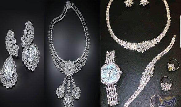احصلي على الفخامة والتمي ز مع موديلات أطقم الماس 2018 Diamond Necklace Diamond Jewelry