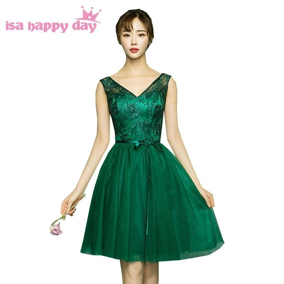 64587455c3 lace appliques green tan bridesmaid robes womans dresse party dresses for  teens bridesmade dress classy knee