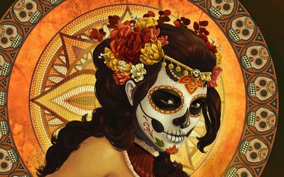 Day of the dead mask wallpaper