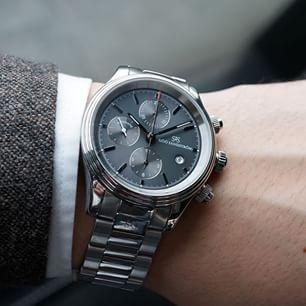 Sjöö Sandström Royal Steel Chronograph 42 mm.  #sjöösandström #watch