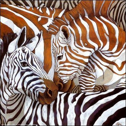 Lisa Benoudiz | ACRYLIC | Zebra Twist                                                                                                                                                                                 Plus